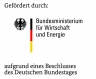 Logo des Zuwendungsgebers Bundesministerium für Wirtschaft und Energie (BMWi)
