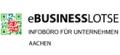 Projektlogo: eBusiness-Lotse Aachen - 01ML12057