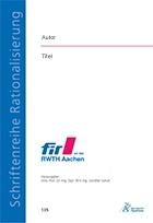FIR-Dissertation: Beispielcover