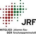 """Logo """"Mitglied der Johannes-Rau-Forschungsgemeinschaft e. V. (JRF)"""""""